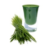 Wheatgrass with apple & lemon